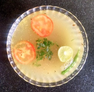 Moong dal lime rasam
